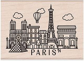 Hero Arts Destination Paris Red Rubber Stamp