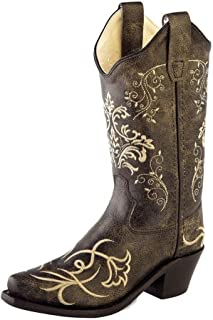 Old West Kids Boots Unisex Embroidered