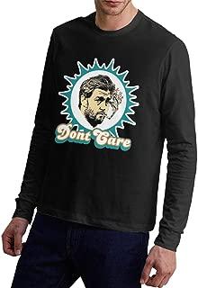 WangJhjfg Men's Miami Cutler Smoking Jay Trend Long Sleeve Tshirt Jersey T Shirt Black