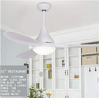 Ventilador De Techo LED con Iluminación,70W,con LED Light Kit Control Remoto Moderna Cuchillas Sin Ruido De Motor Reversible, 6 Velocidades, Interruptor 3 Temperatura De Color,Blanco