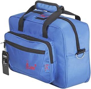 MonkeyJack Clarinet Oboe Case Cover Padded Gig Bag with Side Pocket Shoulder Strap Blue