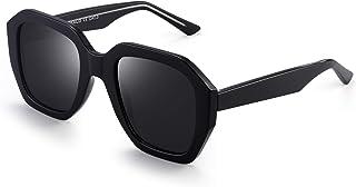 5636478a12 JIM HALO Oversized Polarizadas Gafas de Sol Para Mujer Vintage Cuadradas  Sombras UV400