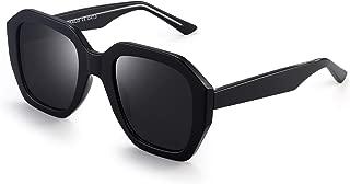 Oversized Polarized Sunglasses for Women Vintage Square Shades UV400