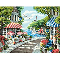 Paint by numbers kit contains high-quality acrylic paints, (1) pre-printed textured art board, (1) set of instructions, and (1) paintbrush. Finished painting measures 14'' W x 11'' L. This acrylic paint set has all you need to recreate this breathtak...