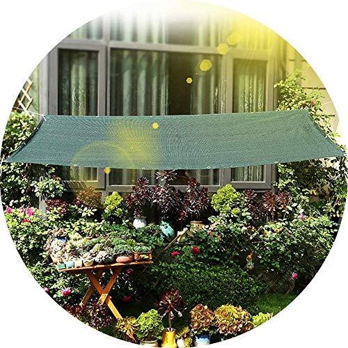 PLEASUR partij zonnebrandcrème luifel anti-Sun schaduw zeil luifel, in HDPE, rechthoek luifel zonnescherm luifel voor outdoor zon bescherming Yard Party, groen (Maat: 2x5m)