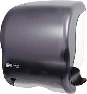 San Jamar T950TBK Element Lever Roll Towel Dispenser, Classic, Transparent Black Pearl