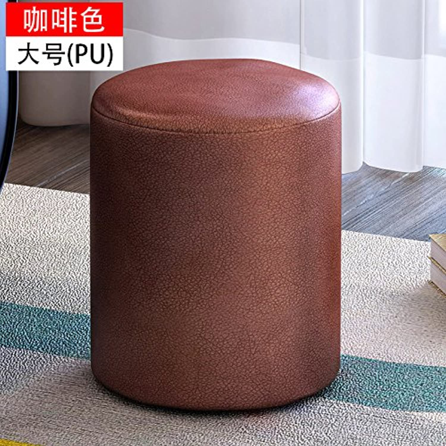 Dana Carrie The shoes is a Stylish Round stool Creative wear shoes of Cloth Sofas stools Benches stool shoes stool Solid Wood on a Low stool, Brown,31  35CM