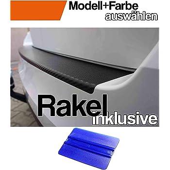 Altea XL Ladekantenschutz Lackschutzfolie von CCW/© mit Profi-Rakel in 3D Carbon Schwarz