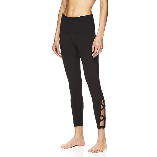 d1edfe461f Gaiam Women's Om High Rise Waist Yoga Pants - Performance Spandex  Compression Leggings