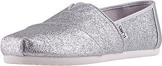 5d92988bfc3 TOMS Kids Girl s Alpargata (Little Kid Big Kid) Silver Iridescent Glimmer 4  M