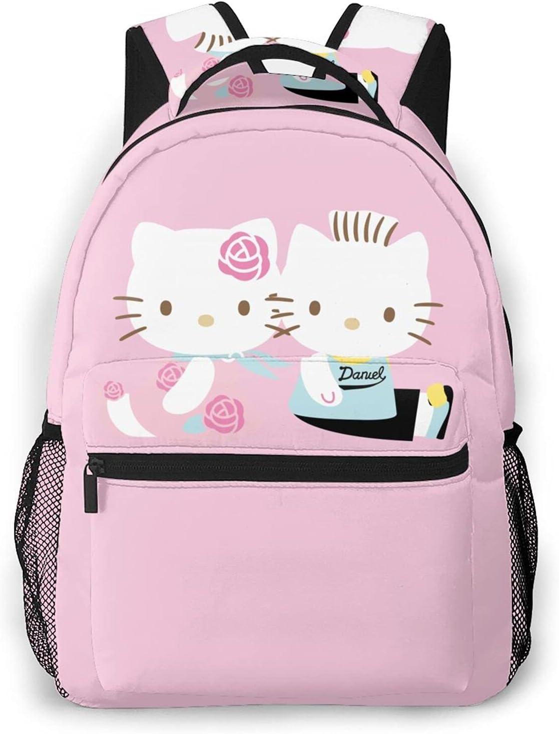Pink Hello Kitty Print Backpack For Ca Free shipping Women High Girls Capacity Regular dealer