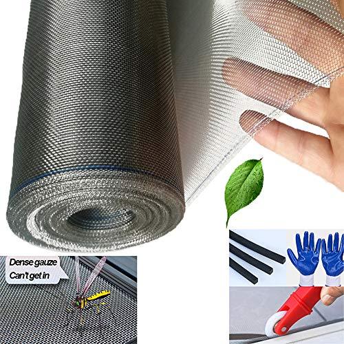 LIBWX Malla de Malla de Acero Inoxidable 304, Malla de mosquitera mosquitera Invisible Nano para Ventana de Puerta, Protege al bebé y a la Familia de Insectos y Insectos,1.2x5m(3.9x16.4ft)
