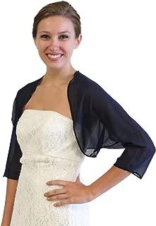 Tion Bridal Women's Chiffon Bolero, Navy Blue