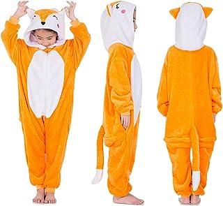 LONGTEN Fleece Onesie Animal Pajamas for Kid Christmas Halloween Cosplay  Costume 4d5569644