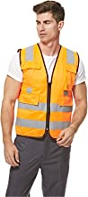Empiral Bright Safety Vest with Backside Cross Reflexives and Zipper Closure - Orange