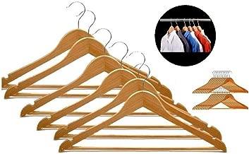 SR Global Wood Suit Hangers - 6 Pack, Natural Model 164150