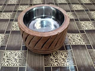 Ocean Handicraft Wooden ASH Tray [5INCH] Light Brown Colour Antique Design