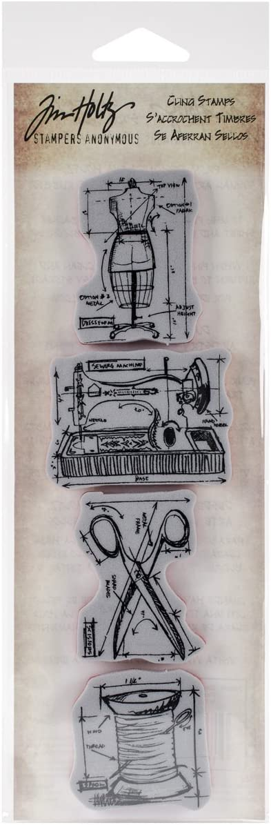 Stampers Anonymous Tim Holtz Mini Rubber Cling Free shipping Direct store Strip Blueprints