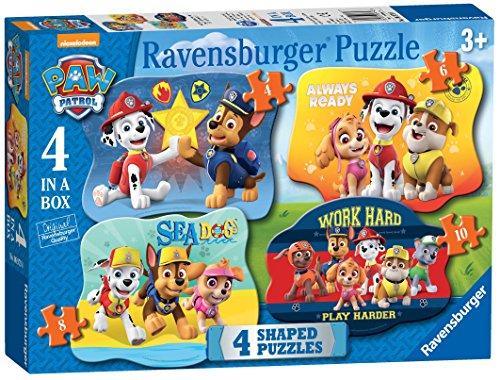 Ravensburger UK 6979 Paw Patrol - Puzzles de 4 Formas (4,6,8,10 Piezas)
