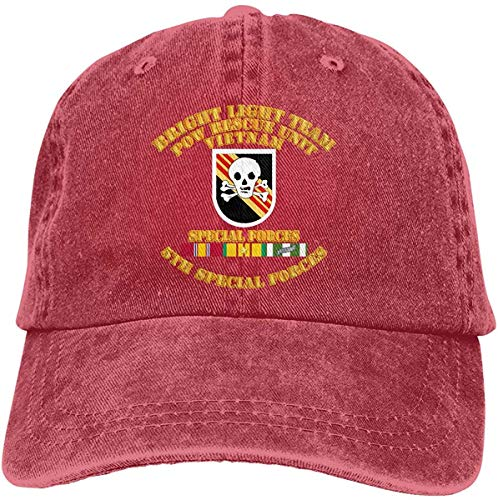 Moruolin Bright Light Tm Flash 5th SFG Vietnam SVC Adjustable Baseball Caps Denim Hats Cowboy Sport Outdoor