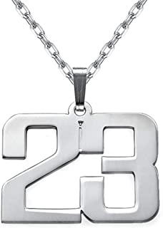 EVER2000 Custom Lucky Number Necklace, Sterling Silver Personalized Pendant with Any Number Jewelry Gift for Women