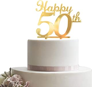 Best gold 50th anniversary cake toppers Reviews