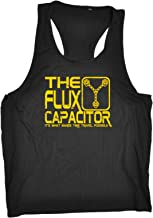 123t Funny Mens Vest - The Flux Capacitor - Open Muscle Tank Top Singlet
