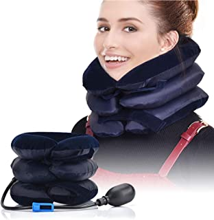 Cervical Neck Traction Device Inflatable Adjustable Neck Stretcher Provide And Neck Pain Relief,Neck Brace And Cervical Tr...