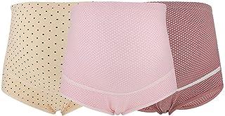 SYTS 3 قطع/مجموعة ملابس داخلية قطنية للنساء الحوامل قابلة للتعديل مقاس كبير خصر عالي مسامي سراويل الأمومة (L-02)