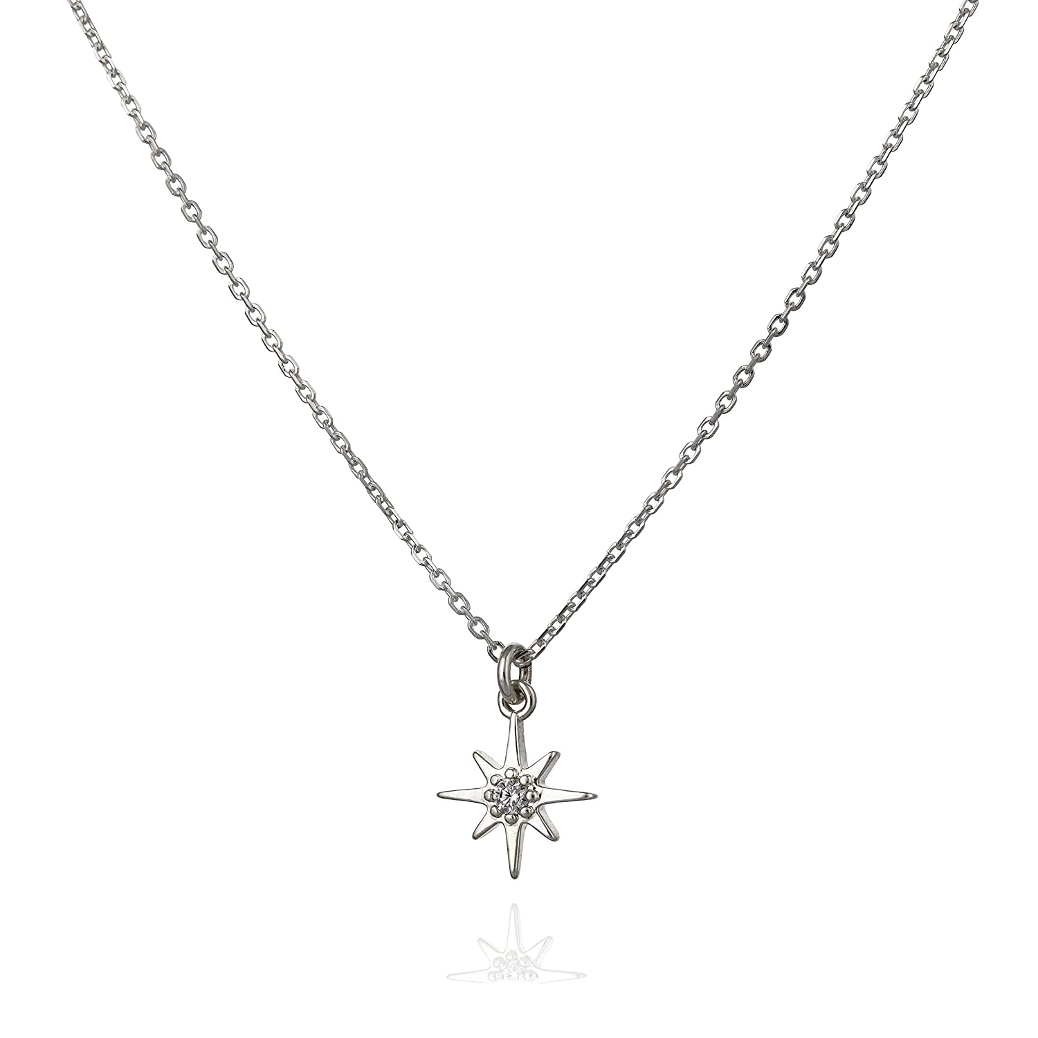 Annikabella Tiny Thin Super sale period limited Silver North Dainty Finally resale start Pendant Necklace Star