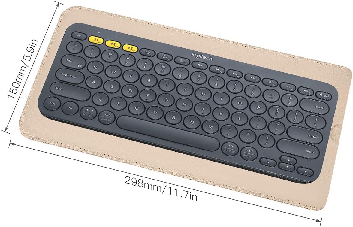 PU Leather Keyboard Sleeve Case for Logitech K380 Multi-Device Wireless Bluetooth Keyboard, Logitech K380 Keyboard Skin Cover, Logitech K380 Accessories-Apricot Color