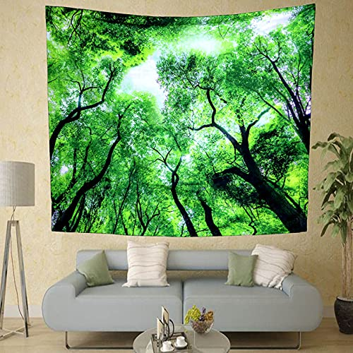 NTtie Pattern Wall tapestry Tapestries Wall Hanging Home Decorations For Living Room Forest print tapestry