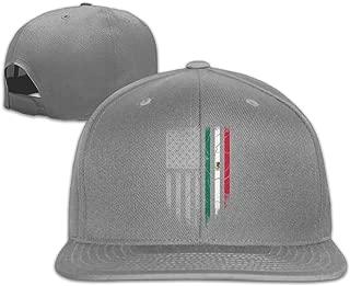 Mexican American Flag Funny falt Hat Adjustable Baseball Cap
