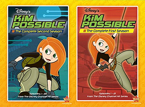 Kim Possible The Complete Series (First and Second Season) 6-DVD Set Disney Animated Bundle