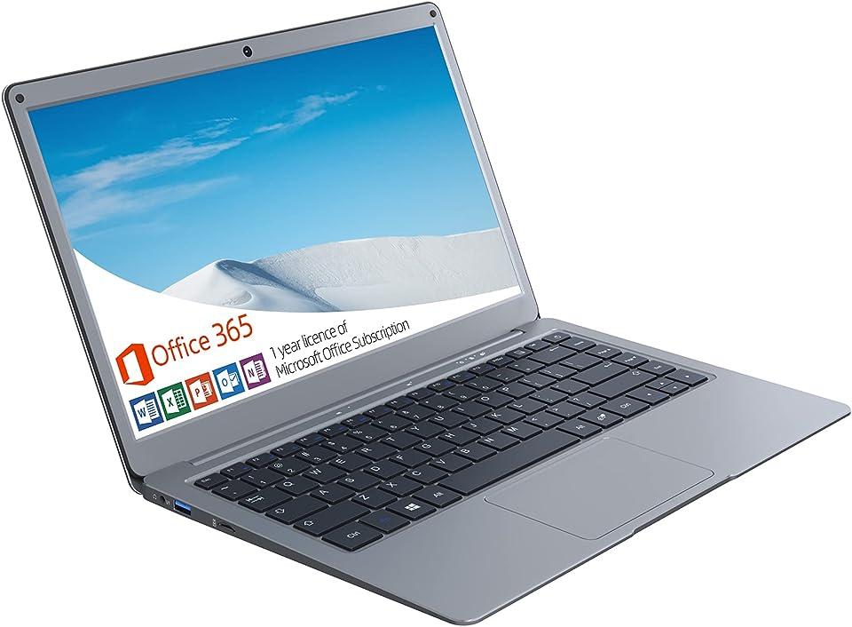 Jumper Laptop Microsoft Office 365 (4 GB DDR3 128 GB eMMC Windows 10 Notebook mit 13,3 Zoll FHD, Intel CPU, Dualband WLAN, Bluetooth 4.2, 1 TB SSD und 256 GB TF zur Erweiterung)