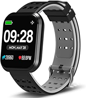 "Surpro Smart Watch Heart Rate Monitor, 1.3""Bright Color Screen Waterproof Pedometer Wrist Watch, Bluetooth Running GPS Fit..."