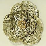 Home Collection Hogar Decoraciones Accesorios Interior Flor de Metal para Colgar en la Pared Ø 74 cm