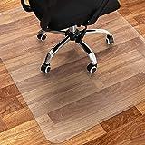 Bodenschutzmatte Bürostuhl Transparent Rechteckig   120 x 90 cm   Büro oder Arbeitszimmer Schreibtisch Unterlage