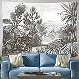 Tapiz con estampado de plantas tropicales para colgar en la pared, manta de tela de fondo nórdico, tapiz trasero para sala de estar, dormitorio, A8 180X200CM
