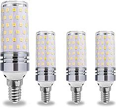 B15/B22/E12/E14/E17/E26/E27 LED Corn Light Bulb, 12W/16W Warm/Cool White Kitchen Light 3000K/6500K, AC80-265V, 4Pcs,E14,16...