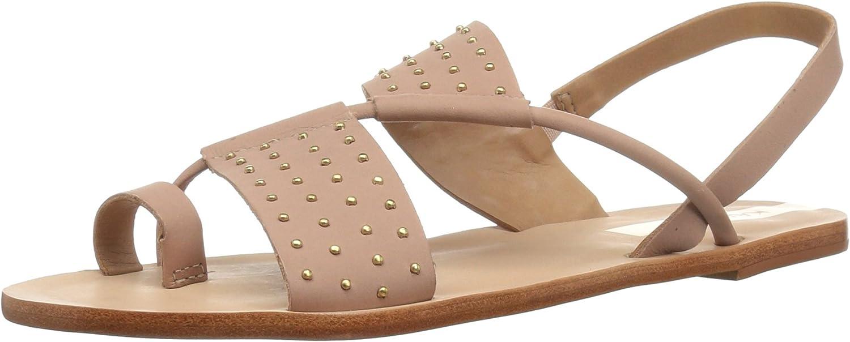 KAANAS Womens Sao Paulo Studded Flat Leather Sandal Flat Sandal