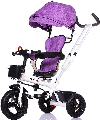 el mas de moda Great Triciclo para Niños Bicicleta 1-3-5 Cochecito de bebé de de de un año Carritos para bebés Juguete para Niños Bicicleta Rueda de Titanio Asiento Giratorio Marco de Almacenamiento Toldo (Energy A+  marcas de diseñadores baratos