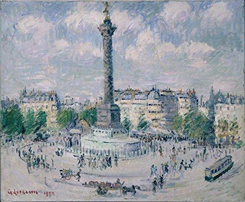 Das Museum Outlet–Der Platz der Bastille, 1922–Poster (mittel)