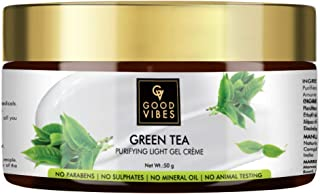 Good Vibes Green Tea Purifying Light Gel Face Cream with Natural Anti Aging (50 g)