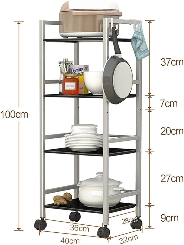 GRY Küchen-bewegliches Wagen-Regal Boden-Mikrowellen-Gestell Ofen-Speicher-Speicher-Regal Regal B07CJV46QR  Neuartiges Design