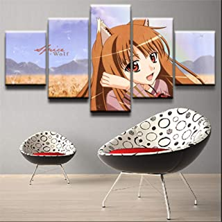 Wall Decor Art 5 Pieces Hinami Fueguchi Poster Modern Home Decor Framed Picture Prints Canvas Paintings Girls Room Wall Art Anime Tokyo Ghoul YL-KL