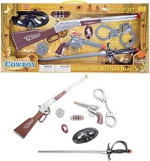 ECCRIS Toys Gun Toy Gun Cowboy Wild West Set Rifle Playset with Sounds and Light