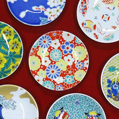 九谷焼 縁起 豆皿 梅菊模様 陶器 和食器 おしゃれ食器