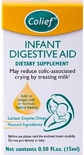 3 Colief Infant Digestive Aid Drops - Baby Colic - Add to Breast Milk or Formula 0.50 Floz
