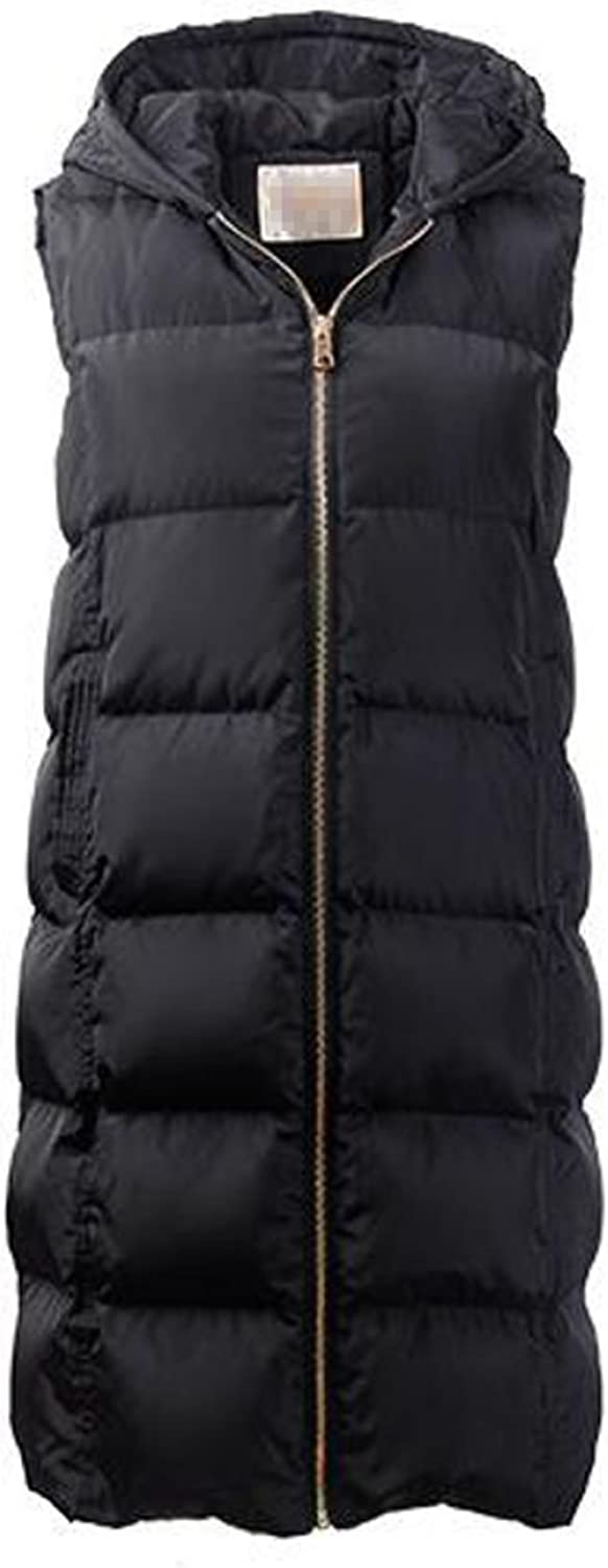 Female Autumn And Winter Down Vest Hooded In The Long Section Korean Version Slim